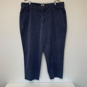 Lee Navy Blue Slacks- Size 24W